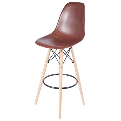 30.5 Bar Stool Upholstery: Brown