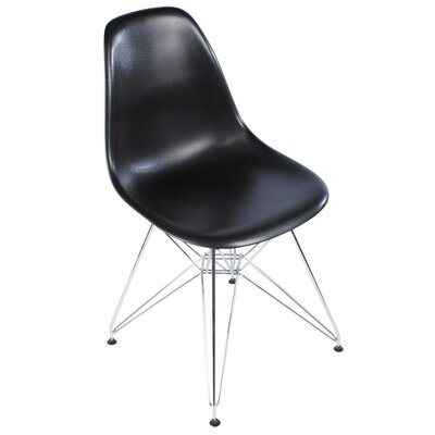 Eiffel Tower Side Chair Upholstery: Black