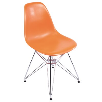 Eiffel Tower Side Chair Upholstery: Orange