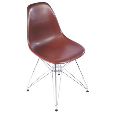 Eiffel Tower Side Chair Upholstery: Brown