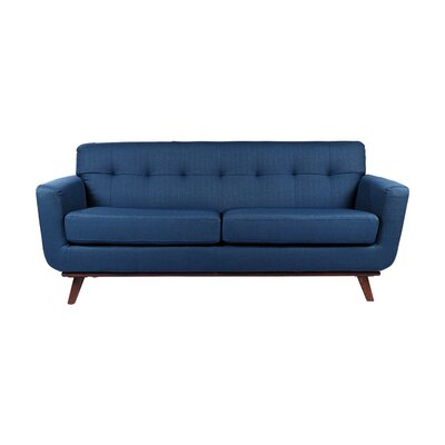 Retro 3 Seater Sofa Upholstery: Navy Blue