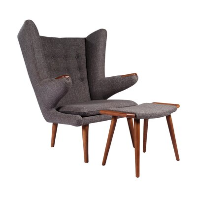 Papa Bear Wing back Chair and Ottoman