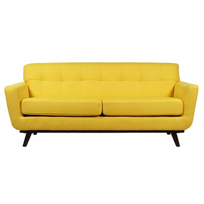 Retro 3 Seater Sofa Upholstery: Yellow