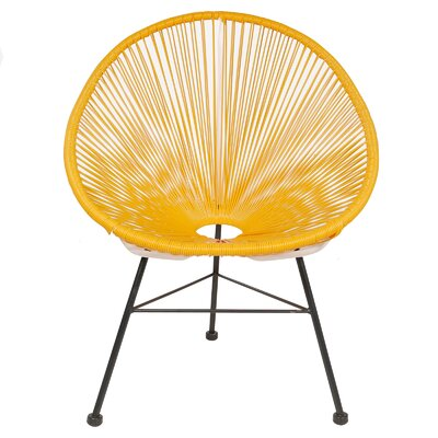 Acapulco Woven Basket Lounge Chair Fabric: Yellow