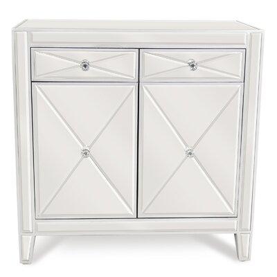 2 Drawer Mirrored Cabinet PV-JS8066-MIR