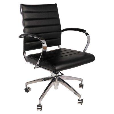 Leather Desk Chair PV-4021BK