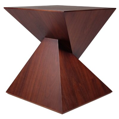 James Tan Pyramid End Table