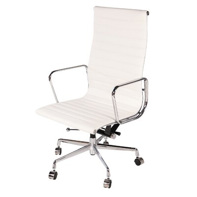 High-Back Leather Desk Chair PV-1010-WH