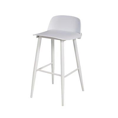 30 Bar Stool Color: White