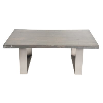 Live Edge Coffee Table Color: Aged Grey