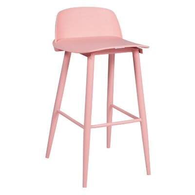 30 Bar Stool Color: Pink