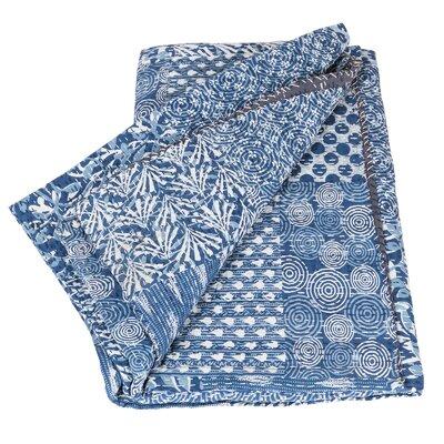 Blue Vintage Kantha Cotton Throw