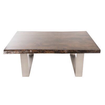 Live Edge Coffee Table Color: Espresso