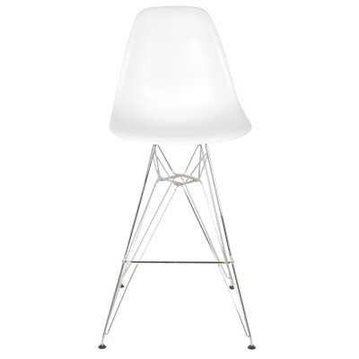 27.5 Bar Stool Color: White