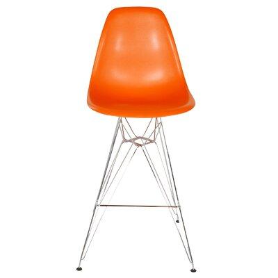27.5 Bar Stool Color: Orange