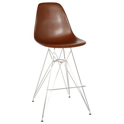 Hadsell Mid-Century 27.5 Bar Stool Color: Brown