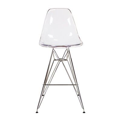 Hadsell Mid-Century 27.5 Bar Stool Color: Clear