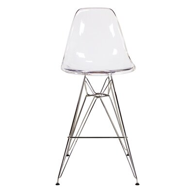 27.5 inch Bar Stool Color: Clear