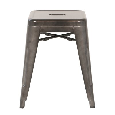 18 inch Bar Stool Finish: Gunmetal