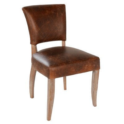 Ashley Genuine Leather Upholstered Dining Chair