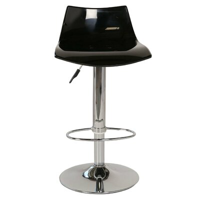 Lucite Adjustable Height Swivel Bar Stool
