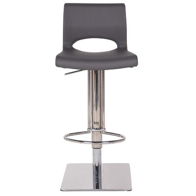 Pierce 33 Swivel Bar Stool Upholstery: Gray