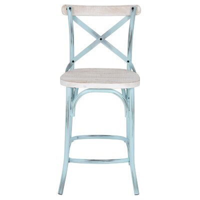 25 Bar Stool Finish: Whitewash Wood