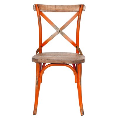 Solid Wood Dining Chair Finish: Orange