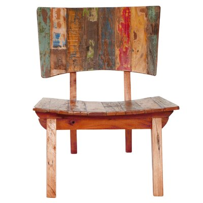 Oversized Reclaimed Fishing Boat Wood Guest Chair
