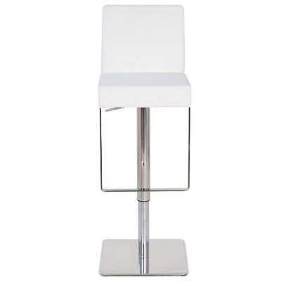 Marcelo Leather Hydraulic Adjustable Height Swivel Bar Stool Upholstery: White