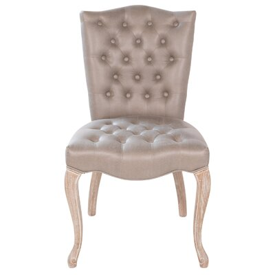 Victoria Genuine Leather Upholstered Dining Chair
