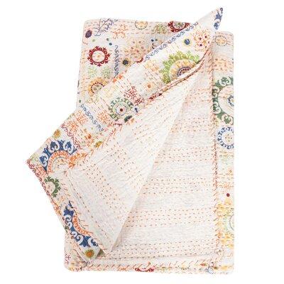 Kantha Cotton Throw Blanket
