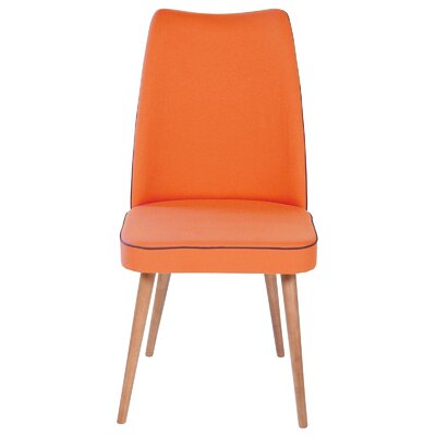 Side Chair Upholstery: Orange
