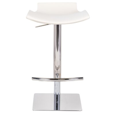 Raven Adjustable Height Bar Stool Upholstery: Beige
