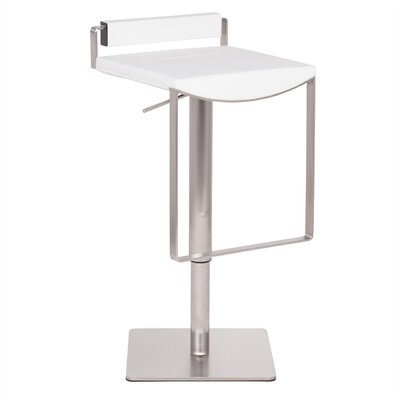 Bristol Hydraulic Adjustable Height Bar Stool Upholstery: White