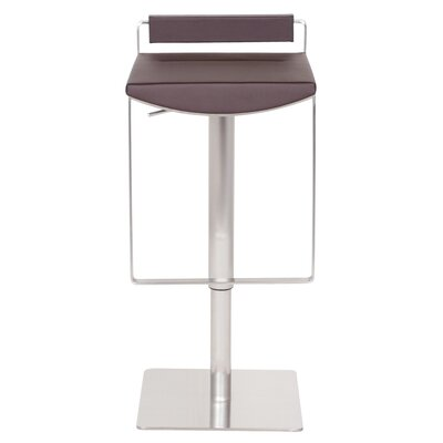 Bristol Hydraulic Adjustable Height Bar Stool Upholstery: Brown