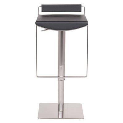 Bristol Hydraulic Adjustable Height Bar Stool Upholstery: Black