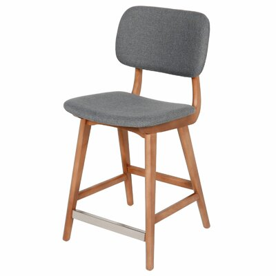 Ivor 24.5 Bar Stool Upholstery: Grey