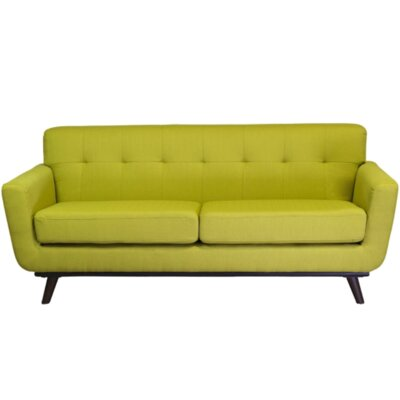 Retro 3 Seater Sofa Upholstery: Green