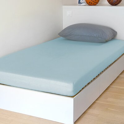 Breathable and Waterproof Select Fitted Sheet and Protector Color: Blue, Size: 75 H x 54 W x 12 D