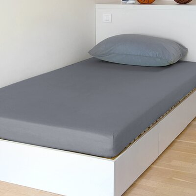 Breathable and Waterproof Select Fitted Sheet and Protector Color: Grey, Size: 75 H x 54 W x 12 D