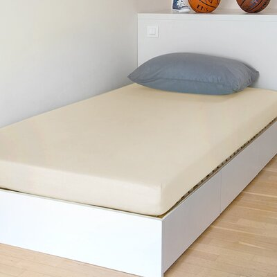 Breathable and Waterproof Select Fitted Sheet and Protector Size: 75 H x 54 W x 12 D, Color: Ivory