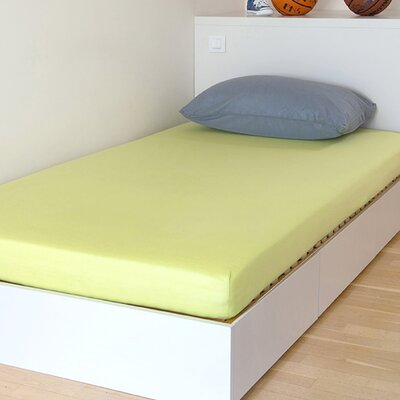 Breathable and Waterproof Select Fitted Sheet and Protector Color: Green, Size: 75 H x 54 W x 12 D