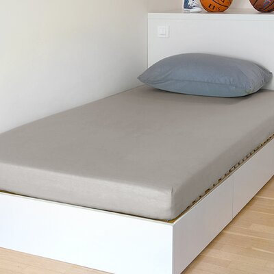 Breathable and Waterproof Select Fitted Sheet and Protector Color: Beige, Size: 75 H x 38 W x 12 D