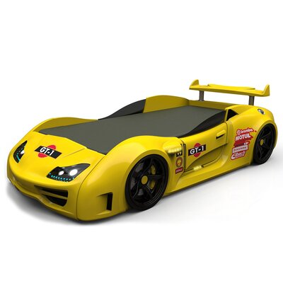 Twin Car Bed Color: Yellow