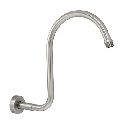 S Shower Arm with Flange Finish: Satin Nickel