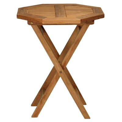 RJ Octagon Outdoor Teak Folding Bistro Table