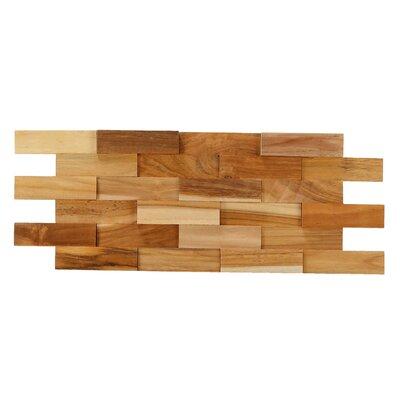 Brick 3D Pattern 21.5 x 8.25 Wood Tile in Brown