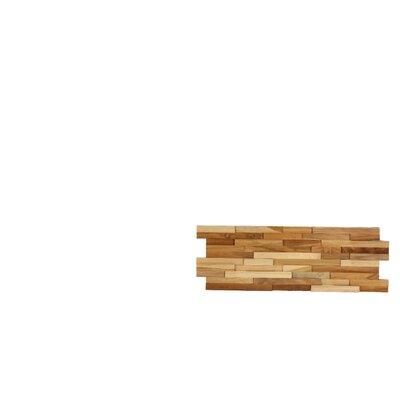 3D Mosaic 21.5 x 8.25 Wood Tile in Brown