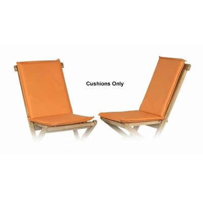 Outdoor Adirondack Chair Cushion Fabric: Orange